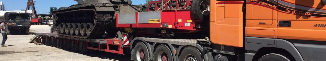 Neue Panzer für's Dampffestival sind heute mit mehreren Schwertransportern in Seifertshofen angekommen…….